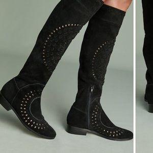 NIB Anthropologie Farylrobin Cutout Black Boots